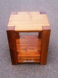 Beistelltische - Beistelltisch Couchtisch Nachttisch Massivholz - ein Designerstück von moeblex bei DaWanda