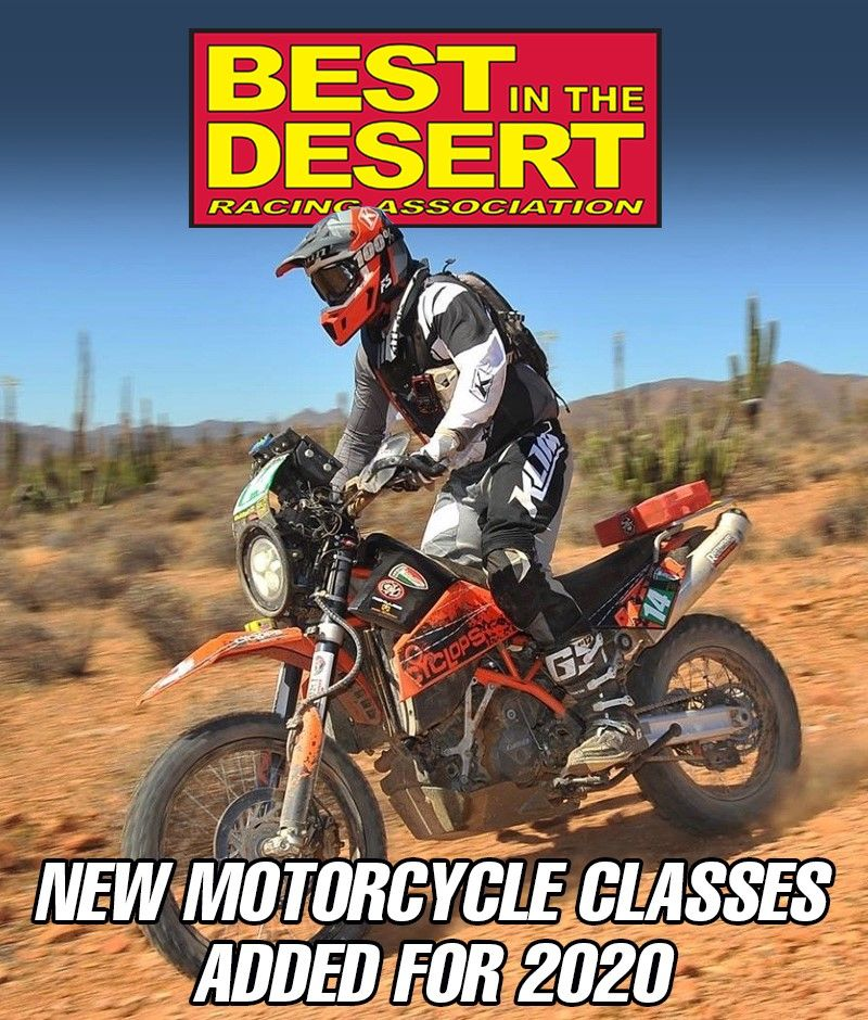 Best In The Desert Announced Today The Addition Of Motorcycle