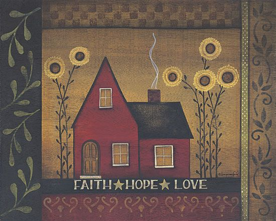 Faith Hope Love By Artist Tanya Crawford