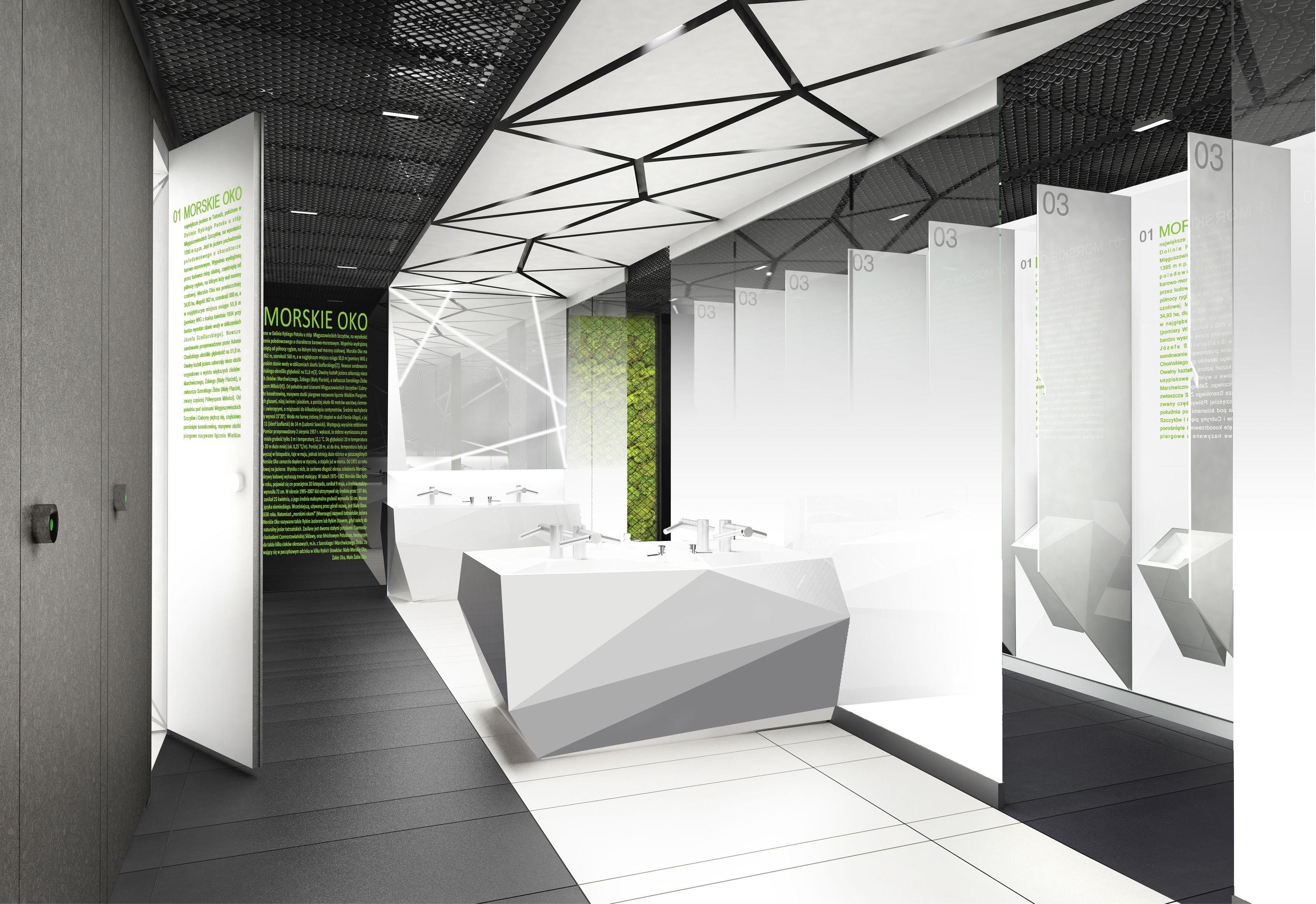 Design of the interior for public toilets and corridors in SC Złote ...