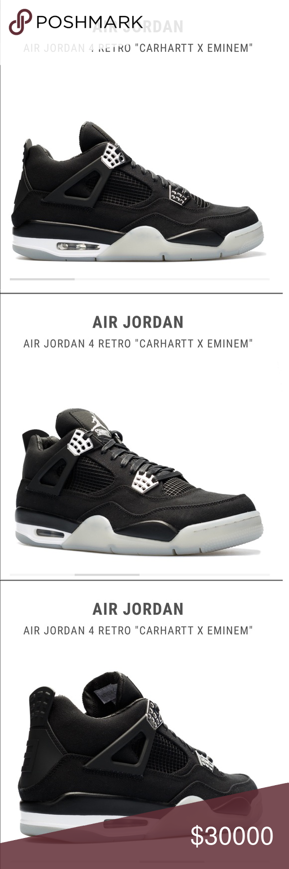 060585be6c0 Air jordan 4 retro carhartt x Eminem Very rare only have size 9 left out of  12 sizes Air Jordan Shoes Athletic Shoes