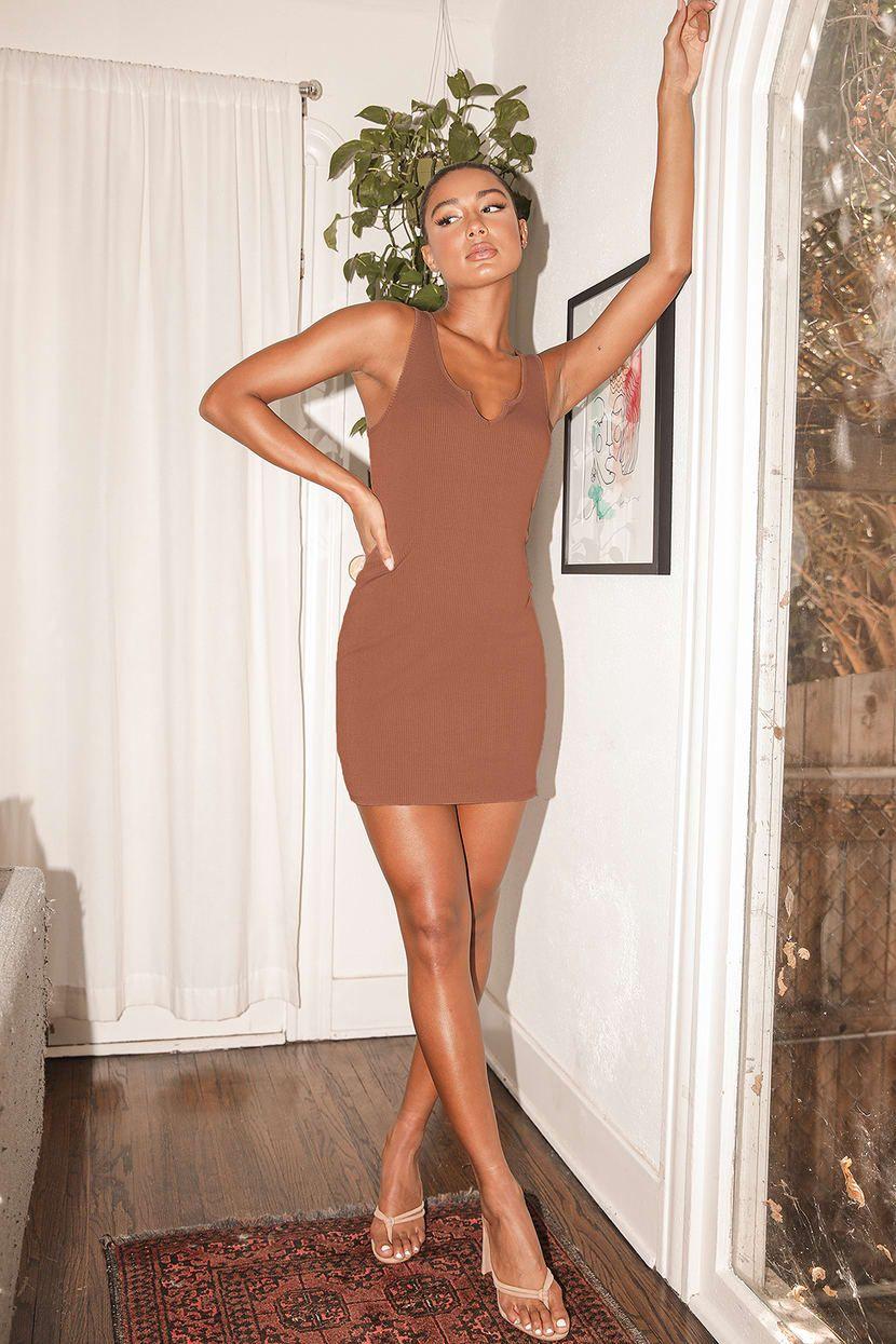 Go Figure Tan Ribbed Bodycon Mini Dress Bodycon Mini Dress Mini Dress Ribbed Bodycon Dress [ 1245 x 830 Pixel ]