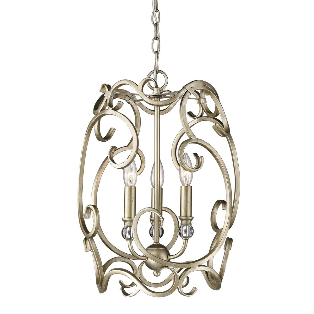 Golden Lighting's Colette 3 Light Pendant #4616-3P WG