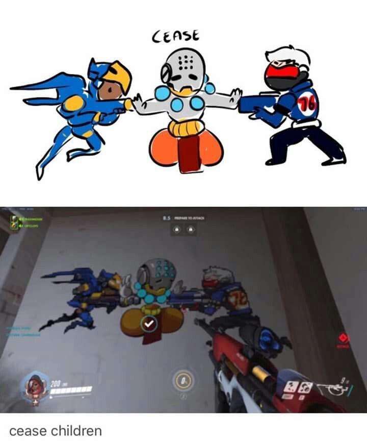 Pharah Zenyatta Soldier 76 Xd Overwatch Memes Overwatch Funny