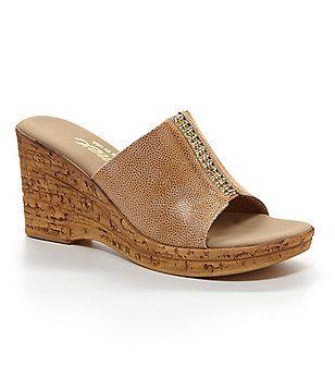 c965dff0a Onex Billie Elastic Stone Detailed Slip On Wedge Slide Sandals Couro,  Sapatos, Sandálias Para