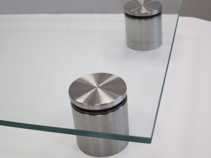 Top View Of Our Stainless Steel Standoffs W Glass Spacer Glass Sign Glass Furniture Glass Decor