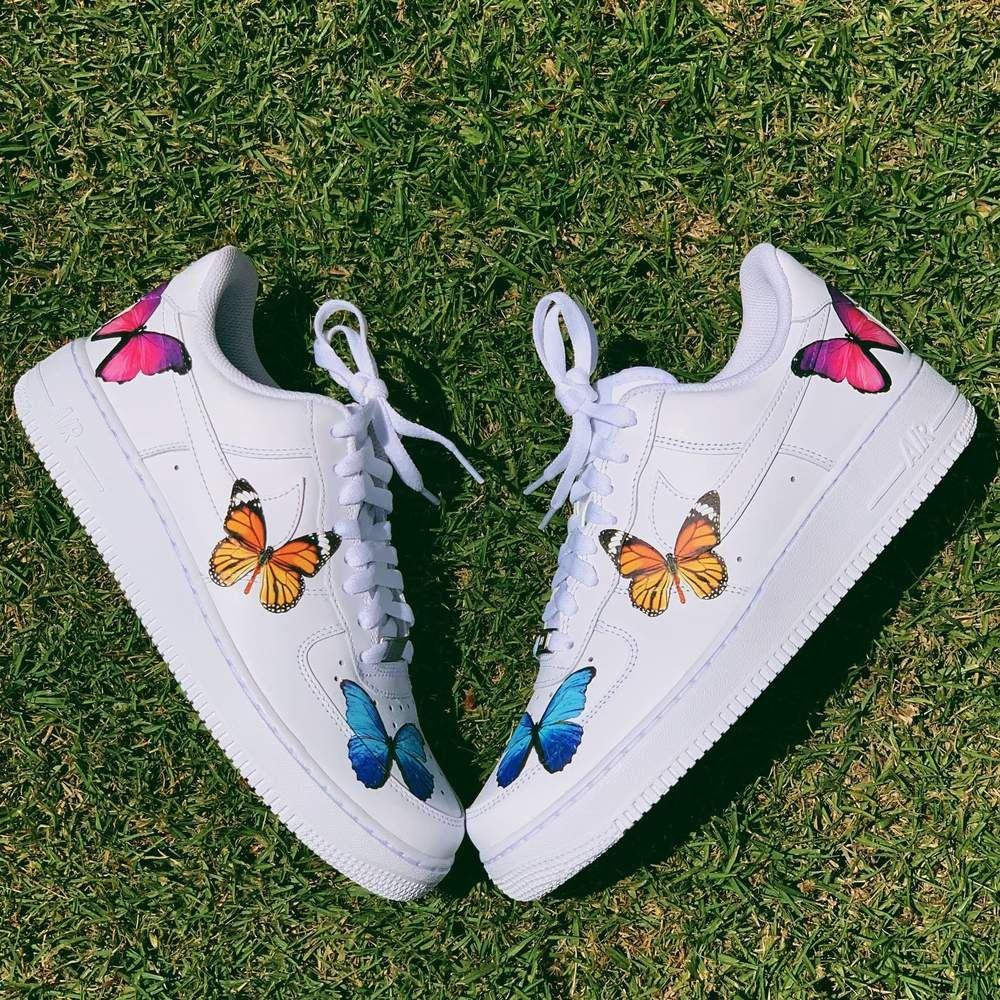 Butterfly Effect AF1 Butterfly shoes, Nike shoes air