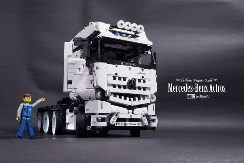 Mercedes Benz Actros 8x4 Heavy Haulage Truck Lego Pinterest
