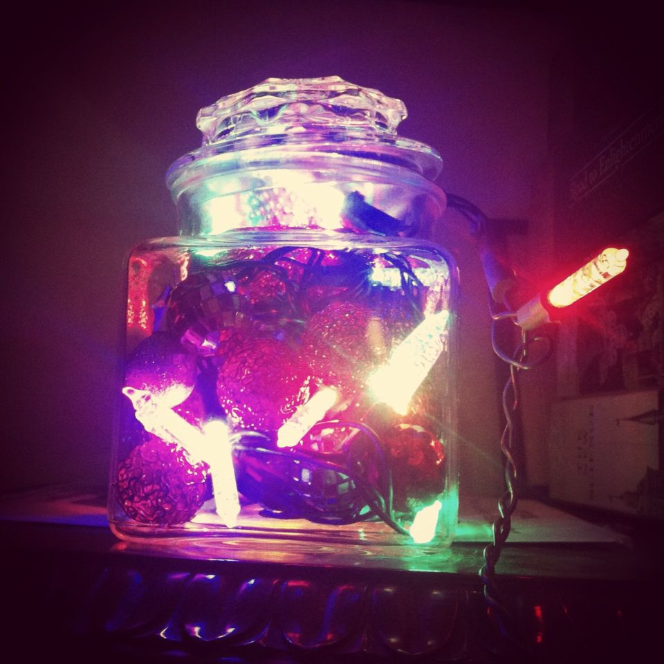 Omg is this decoration not genius? We used LED Christmas lights, a ...