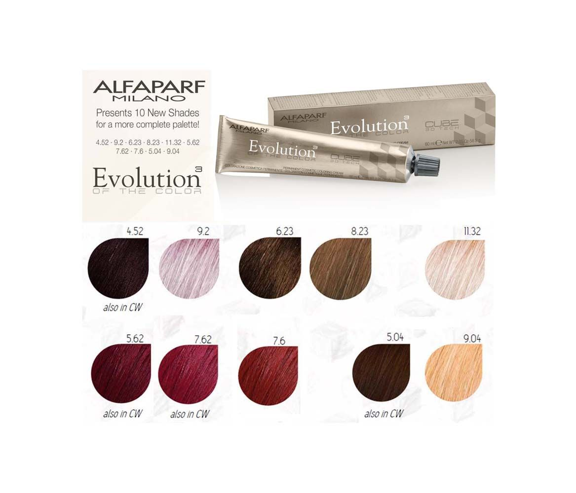 Evolution Hair Color Chart Coloringsite