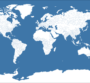 World Map Of Rivers