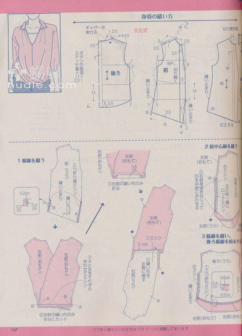 Drape blouse/ patterns instructions | bluse | Pinterest | Patrones ...