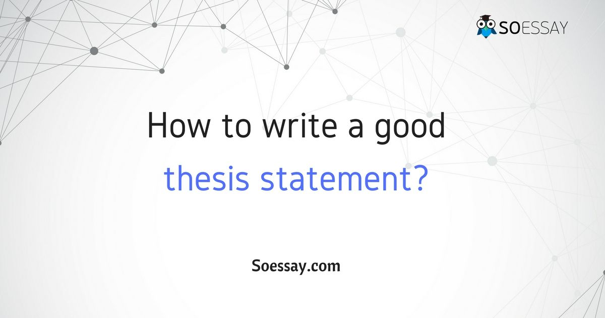 A thesis statement is a form of an academic essay writing that plays - statement form