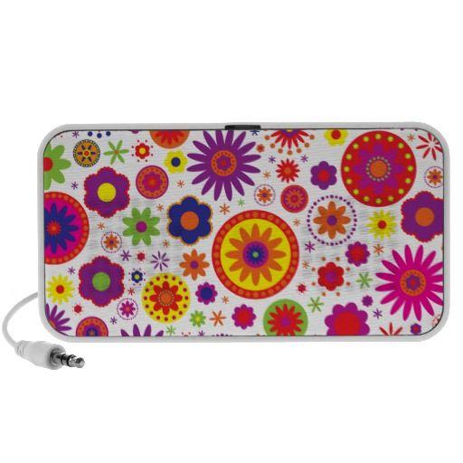 Hippy Rainbow Flowers Mini Speakers.  $33.95