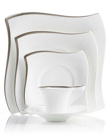 Villeroy Boch New Wave Premium Platinum Dinnerware Collection Fine China Dinnerware Villeroy Boch Dinnerware Sets