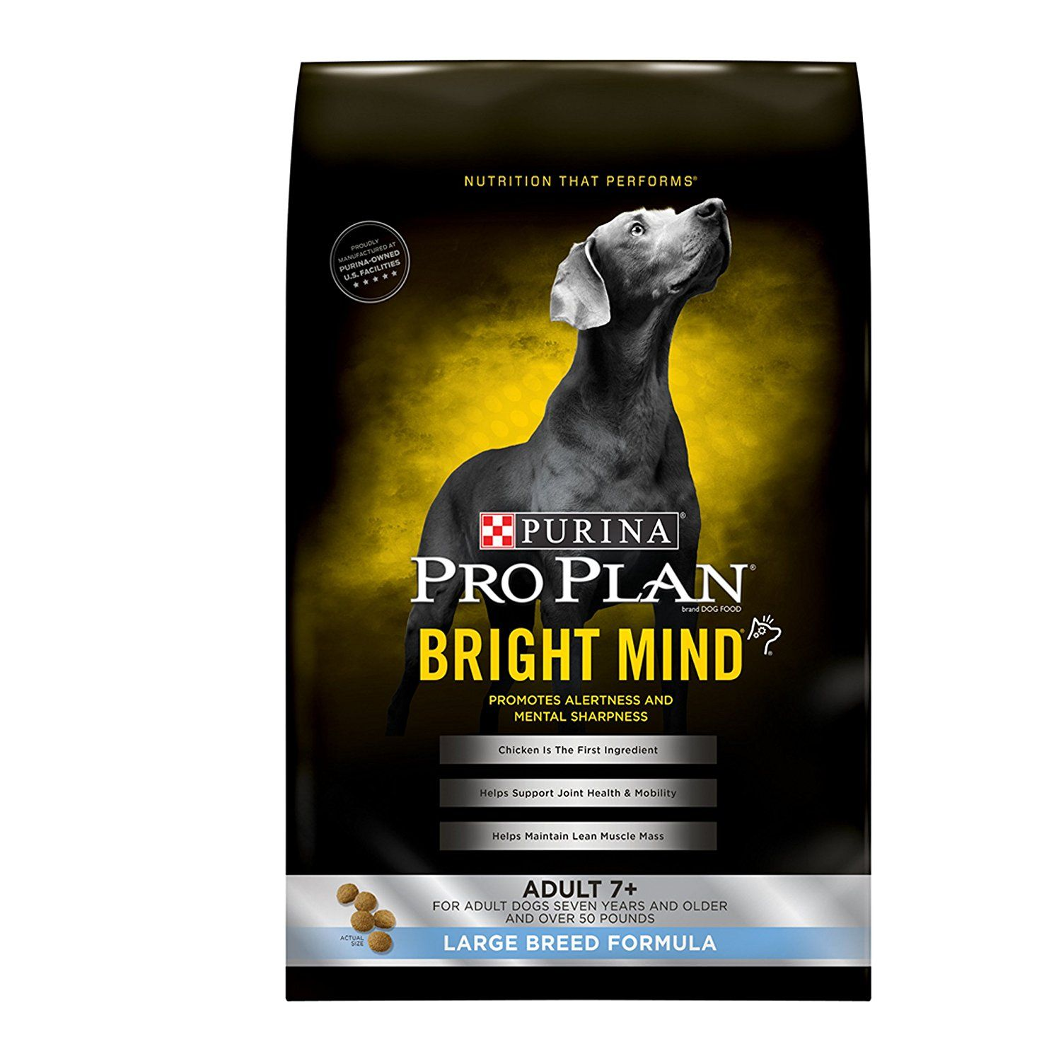 Pro Plan Bright Mind Chicken And Rice Large Breed Senior Dog Food