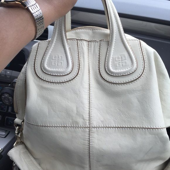 Medium size. Features logo embossed pale gold hardware. GUC. No rips or  snags. Authentic. No dust bag. Price negotiable. Givenchy Bags Totes 4c22115b8710d