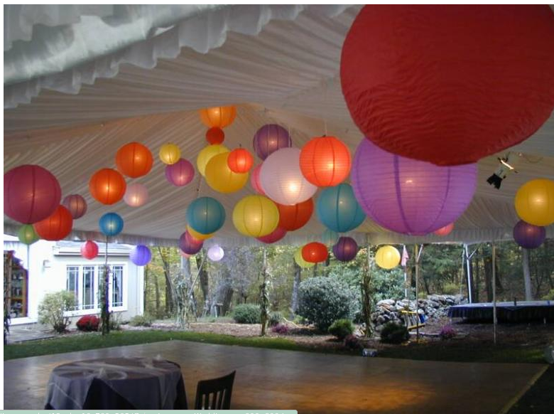 what a great array of paper lantern colors get every one of them