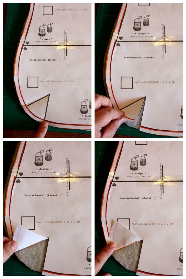 Markierungen für Abnäher wunderbar einfach auf den Stoff übertragen ...