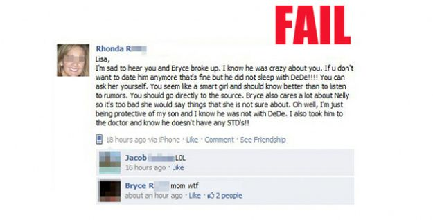 Painfully Embarrassing Parents On Facebook Funny Facebook Statuskids
