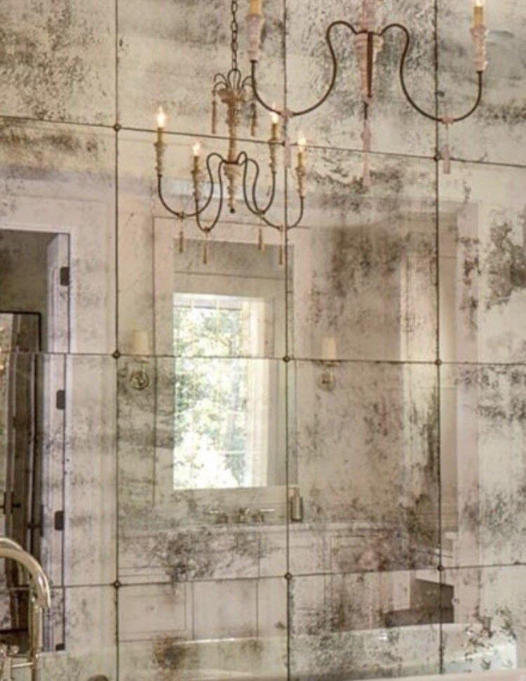 Distressed And Aged Mirror Tiles All Mirrors Are Aged Individually By Hand These Mirror Tiles Are Ava Bathroom Design Luxury Mirror Tiles Antique Mirror Wall
