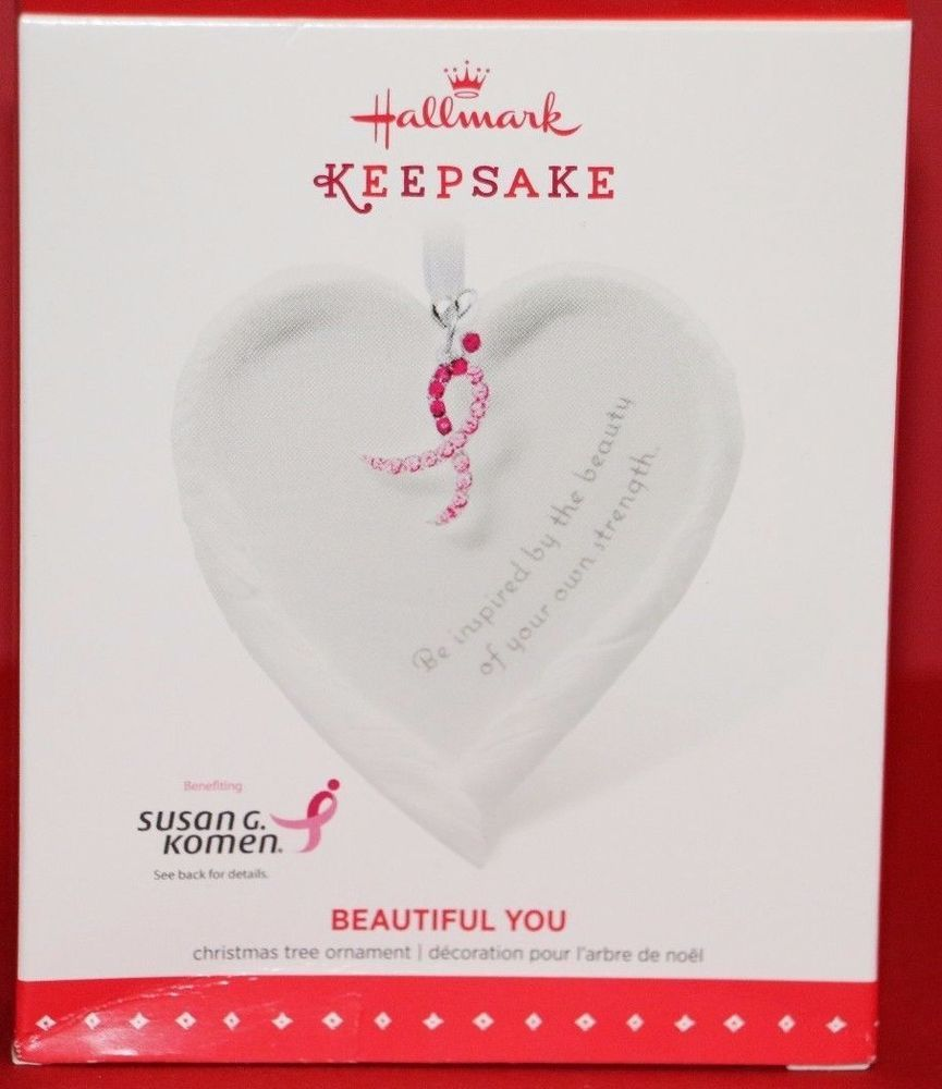 Breast cancer ornament - Details About Hallmark Keepsake Beautiful You Susan G Komen Breast Cancer Ornament 2015 Nib