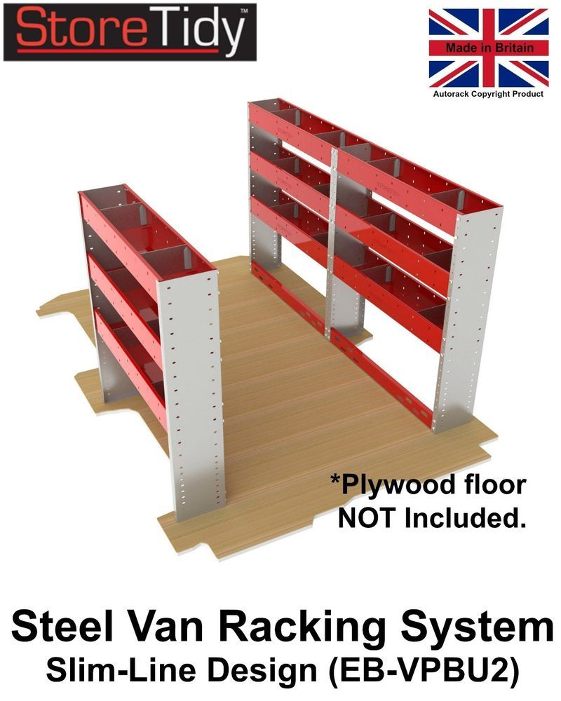 Storetidy Slim Line Van Racking Shelving System 3 Unit Pack Code  # Muebles Sortimo