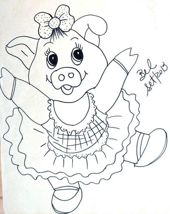 Pin De Elizabetti R Kage Em Porcos Riscos Para Pintura Arte
