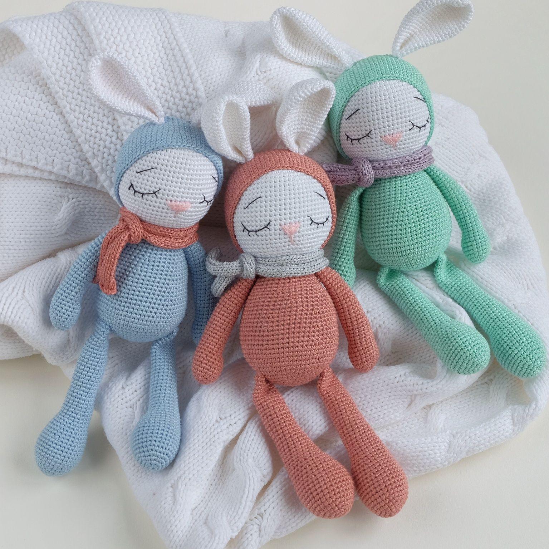 Crochet bunny toy, Sleeping bunny , Bunny toys , Newborn bunny gift, Stuffed bunny, Bunny plush, #bunnyplush