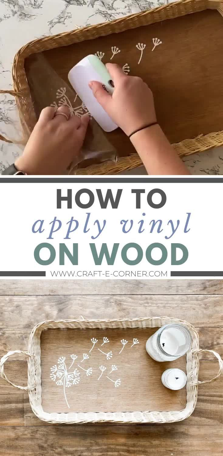 Photo of Cricut Spring Project: How to Apply Vinyl on Wood