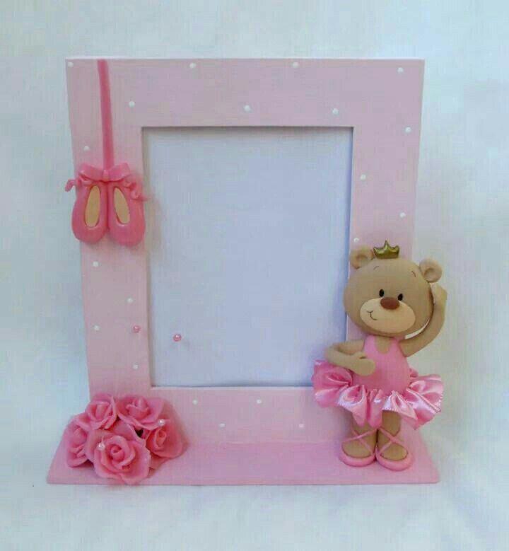 Sugestão porta retrato ursinha bailarina | felt frame | Pinterest ...