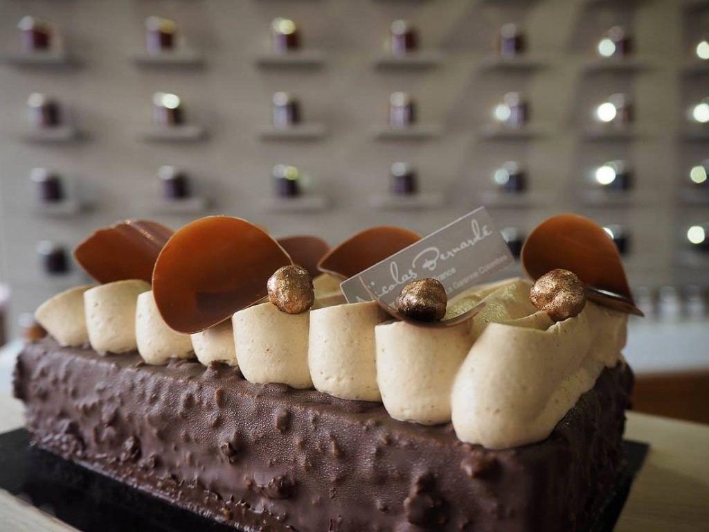 Pâtisserie du Samedi  le «Ticket d\u0027or au chocolat, noisette et caramel
