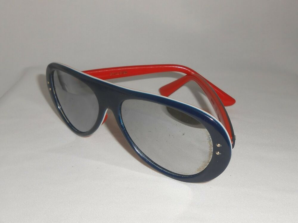 7a74d389393b Vintage Sunglasses 1970's Red White & Blue Style Eyes Mirrored Ski Glasses  #StyleEyes