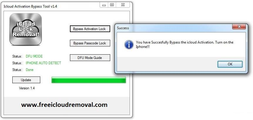 iCloud Activation Bypass Tool v1 4 | icloud bypass com in