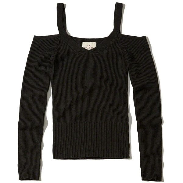 688ecaec373c57 Hollister Slim Cold Shoulder Sweater ( 35) ❤ liked on Polyvore featuring  tops