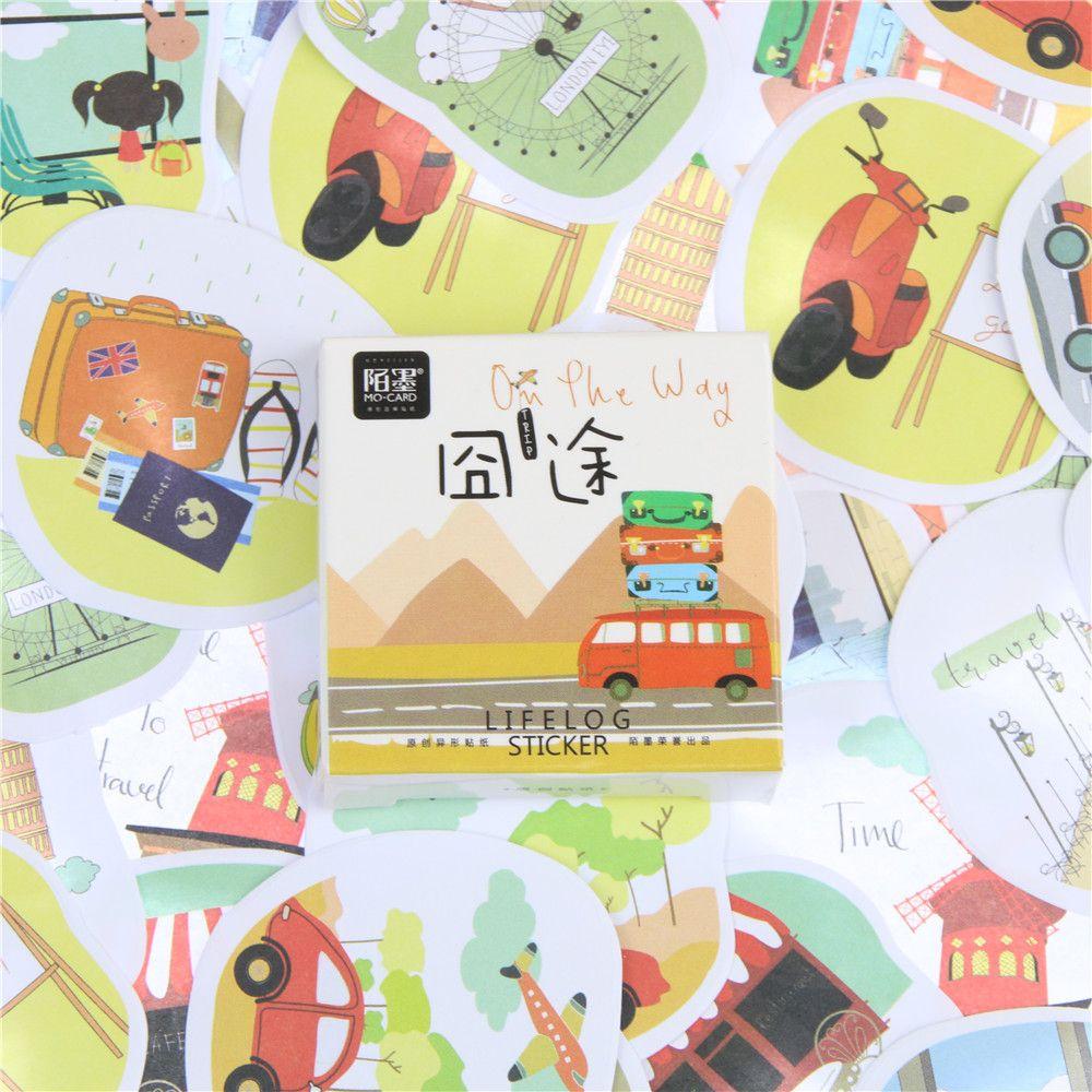 45 Pcs/lot Travel On Road Mini Paper Sticker Decoration