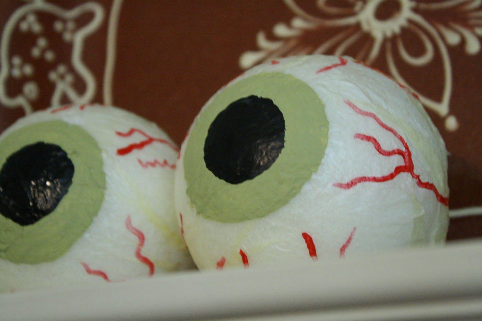 Diy Styrofoam Eyeballs Halloween Eyeballs Halloween Diy Crafts Halloween Crafts