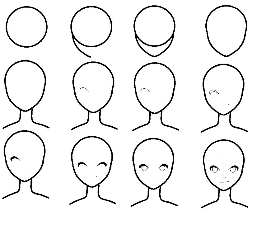How to draw an simple anime face art pinterest