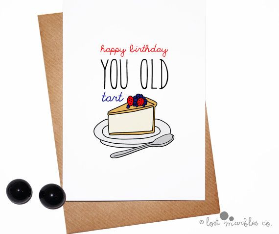 Funny Birthday Card Her Birthday Card for Her by LostMarblesCo – Humorous Birthday Cards for Her