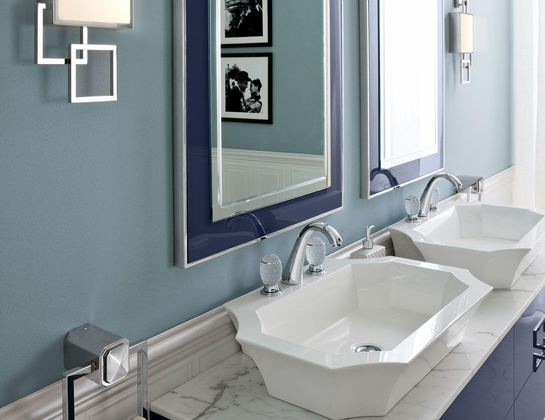 High end Italian bathroom furniture shown in 69.3\