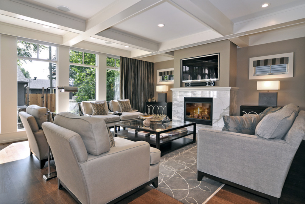 Luxury Formal Living Room With Fireplace Modern Casual Living Room Formal Living Rooms Casual Living Rooms