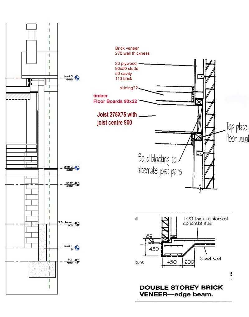 Image Result For Double Storey Section Wall Concrete Brick Veneer Timber Flooring Concrete