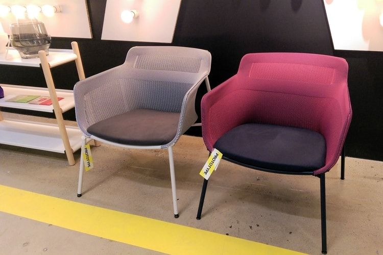 Fauteuils IKEA PS 2017 en tissage 3D terapeutická místnost