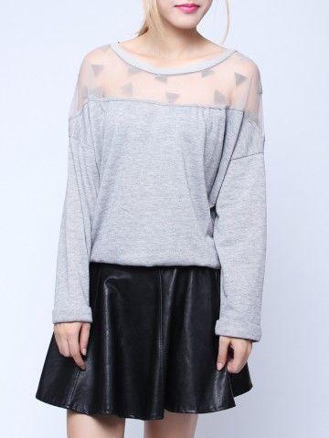 mesh top sweatshirt  $14.56  kawaii grunge pastel grunge hipster street fashion fachin sweatshirt top under20 under30 newchic