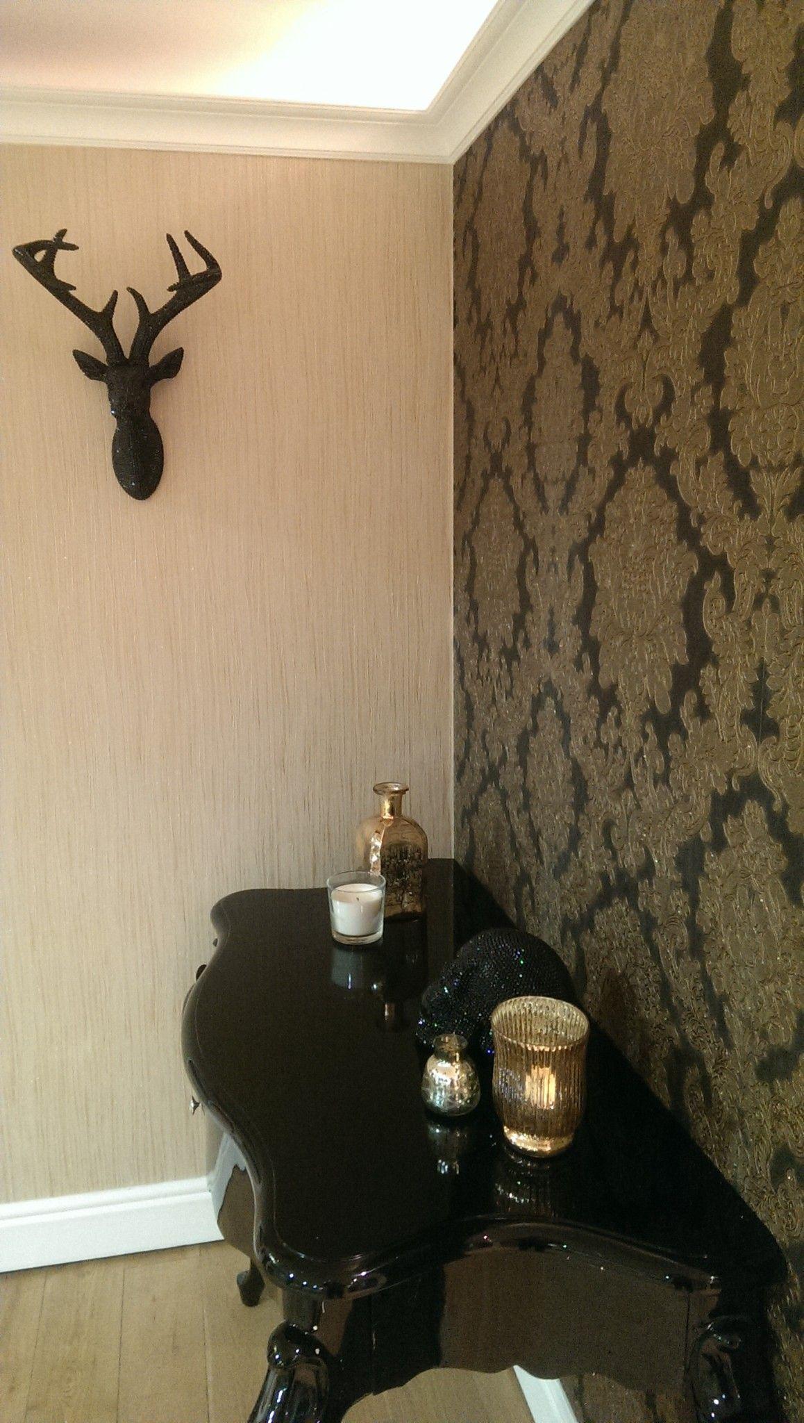 270405 Vicenza Black Gold Glitter Damask Italian Vinyl Vintage Wallpaper Damask Wallpaper Bedroom Damask Wallpaper Wallpaper Bedroom