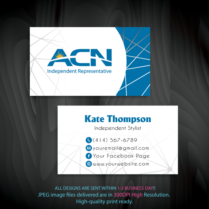 Personalized Acn Business Cards Acn Business Cards Custom Acn Cards Acn Printable File Custom Business Card Acn03 Custom Business Cards Business Card Size Cards