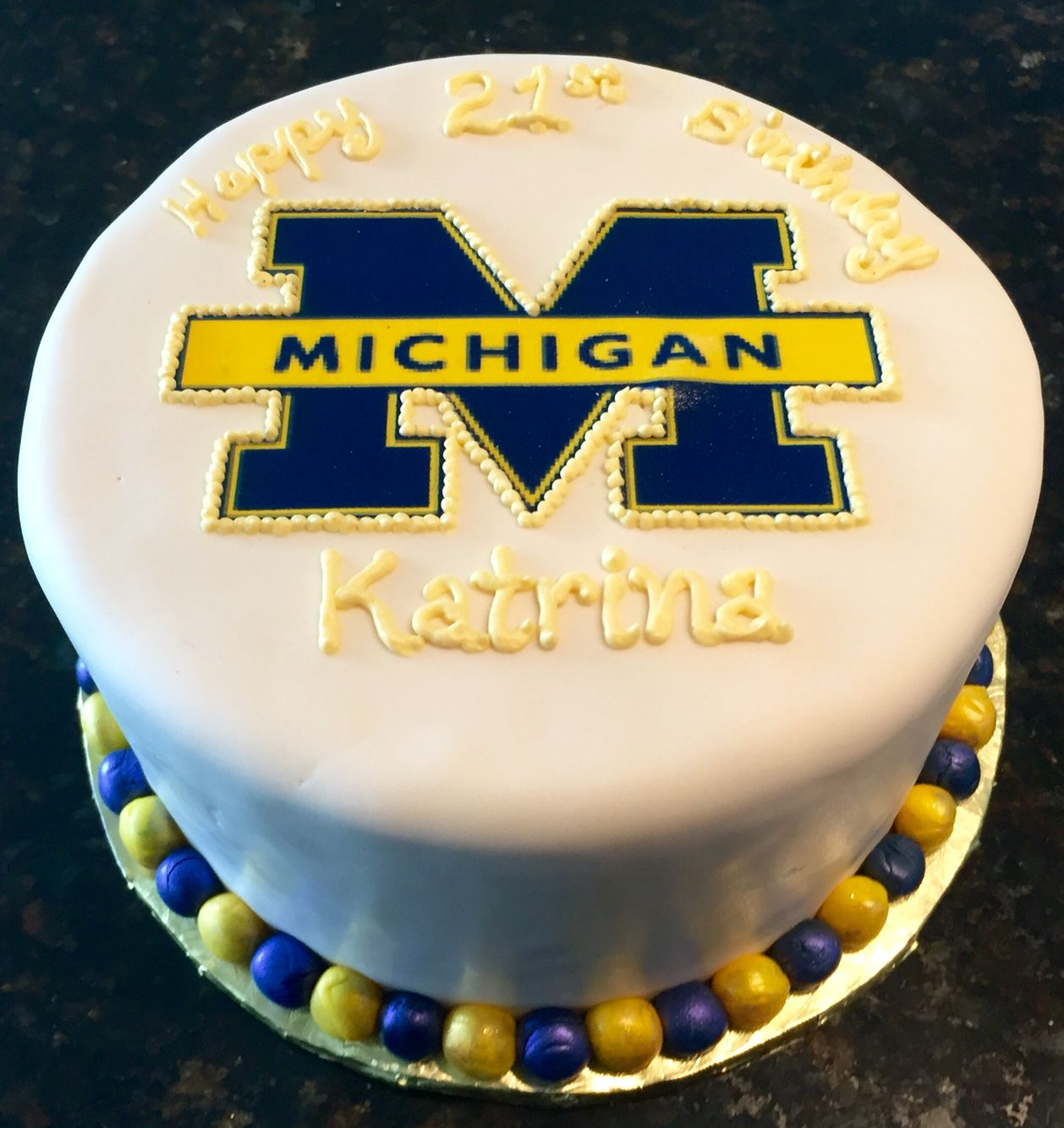 University Of Michigan Inspired Birthday Cake