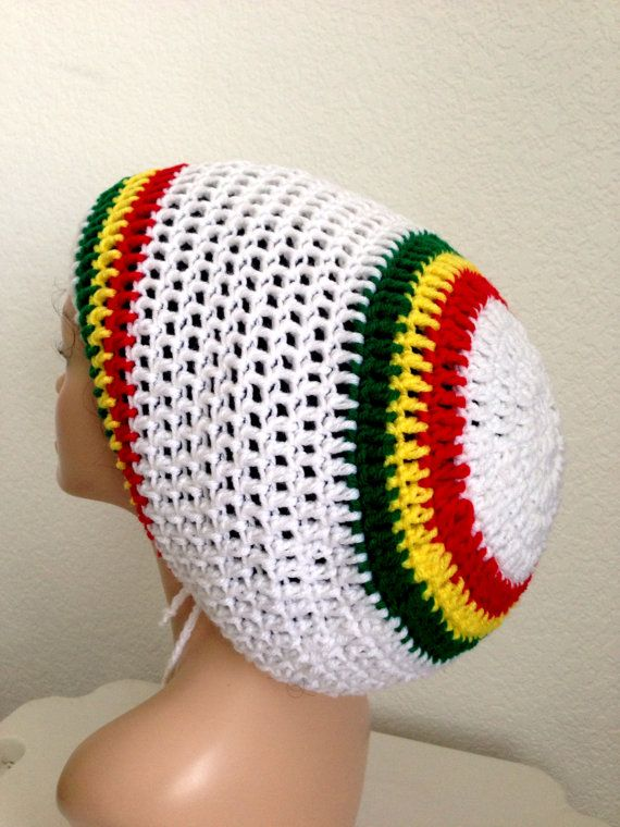 Crochet Rasta Tam. Unisex Dreadlocks Hat. Mega Rasta Hat.Bob Marley ...