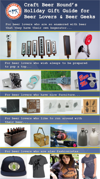 Gift Guide for Beer Lovers and Beer Geeks - the best beer gifts we can find this holiday season!