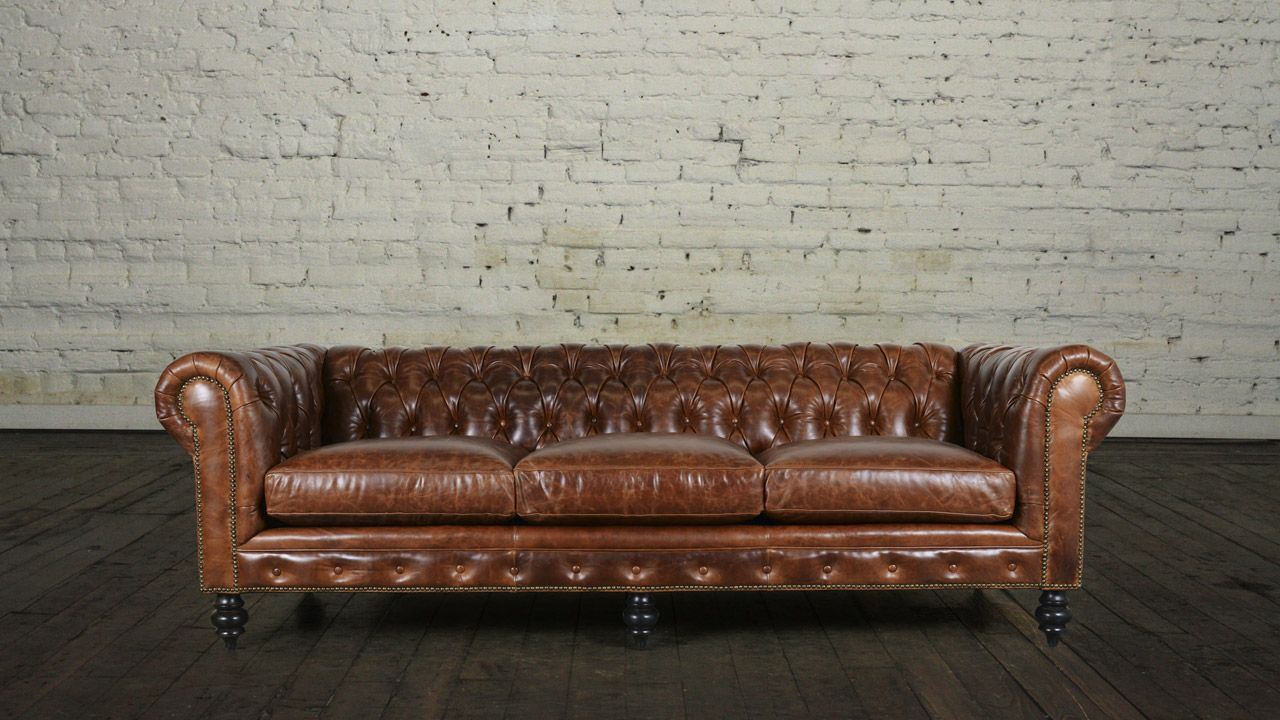 Traditional Chesterfield Leather Sofa Made In Usa Leather